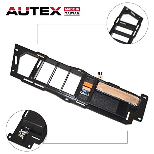 AUTEX Chrome Lever and Black Housing Interior Door Handle Front Left Driver Side Compatible with 1988 1989 1990 1991 1992 1993 1994 Chevrolet GMC C/K 1500 2500 3500 Suburban Blazer 7128 61205