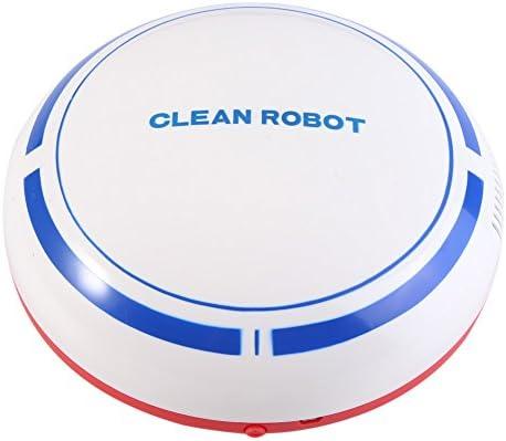 Zerodis Robot Aspirador, Automático USB Recargable Robot Inteligente Aspirador Limpiador de Piso Barrido Succión Máquina de Barrido Robot(White)