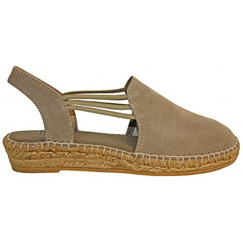 Espadrille Suede Taupe 38 Flat Nuria 5qPxT6E8w