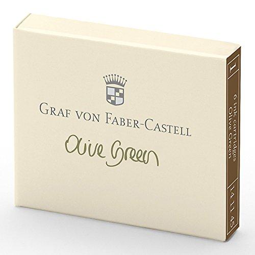 - Faber-Castell GRAF 141115Ink Cartridge, Set of 6, Olive Green