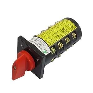 Autobloquant 16 bornes AC 380V 10A 3 Position Cam Combinaison Inverseur