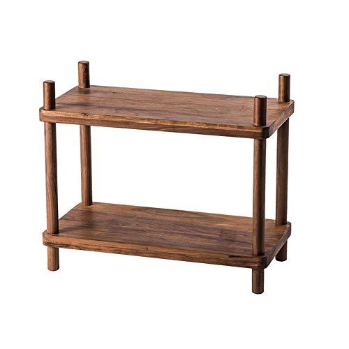 Jcnfa-Shelves Solid Wood Bookshelf Stitching DIY Closet Organizers Modern Industrial Bookcase Display Shelf Storage Organizer (Color : Black Walnut, Size : -