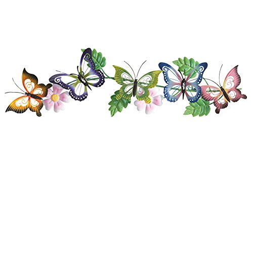 Butterfly Floral Metal Wall Art