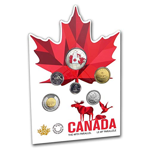 Patriotic Certificate Border - CA 2018 6-Coin Canada From Far and Wide Circulation Set Brilliant Uncirculated