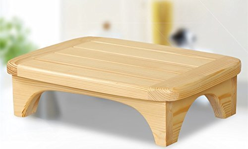 Solid Wood Bed Step Stool Super Large/ Bedside Steps For High Beds/Solid Wood Super Sturdy Hold Up To 500 LBS