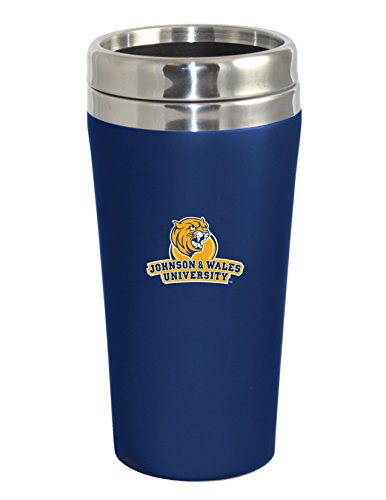 Travel Tumbler Johnson Oz 16 (Johnson & Wales University Double Walled Travel Tumbler, Silver - Design 2)