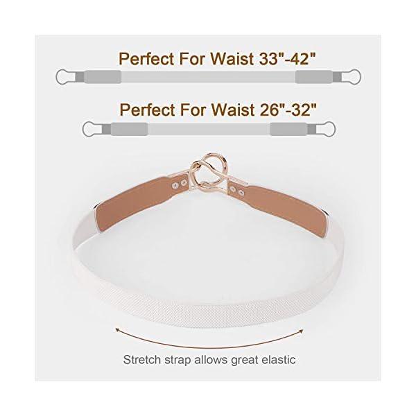 Women Skinny Belt for Dresses Retro Stretch Ladies Waist Belt Plus Size Set of 4