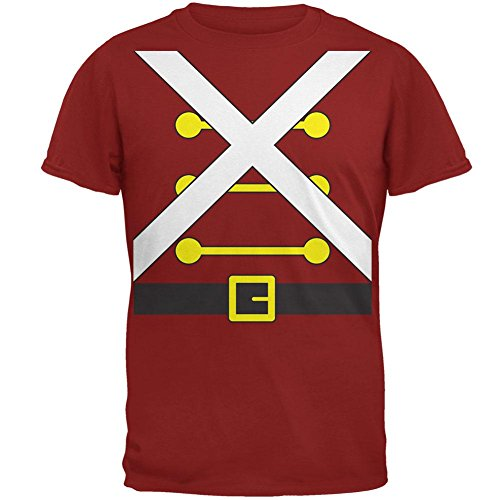 Christmas Toy Soldier Costume Mens T Shirt Cardinal Red (Toy Soldier Clothing)