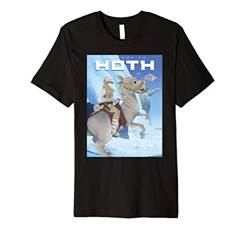 - Star Wars Welcome To Hoth Home Of Echo Base Geometric Poster Premium T-Shirt