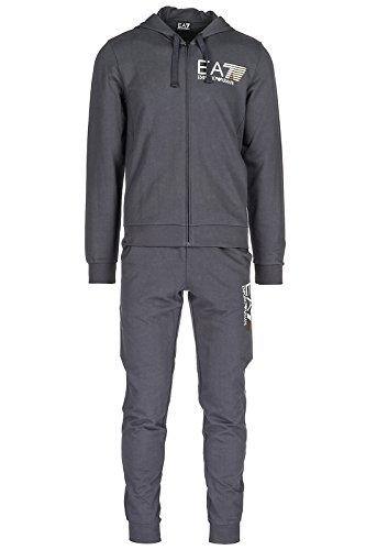 Emporio Armani EA7 tuta uomo fashion completo felpa pantaloni grigio
