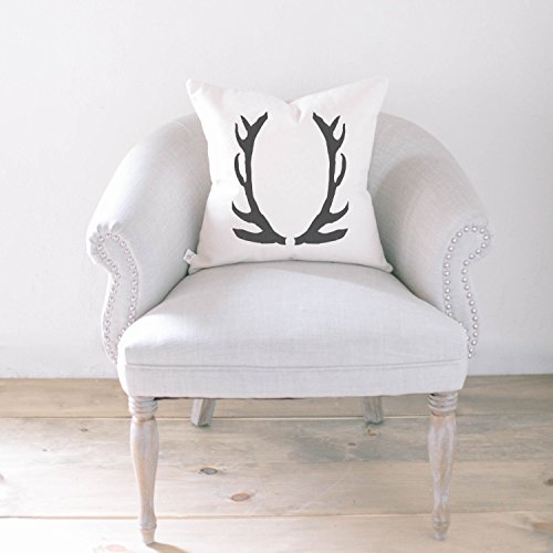 Pillow Cover - Antler, home decor, present, housewarming gift, cushion cover, throw pillow, cushion, pillow case