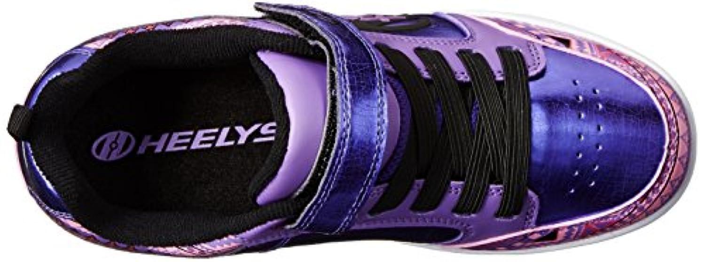Heelys Thunder 770482, Unisex Kids' Sneakers, Multicoloured (Purple/Multicoloured/Print), 1 UK (33 EU)