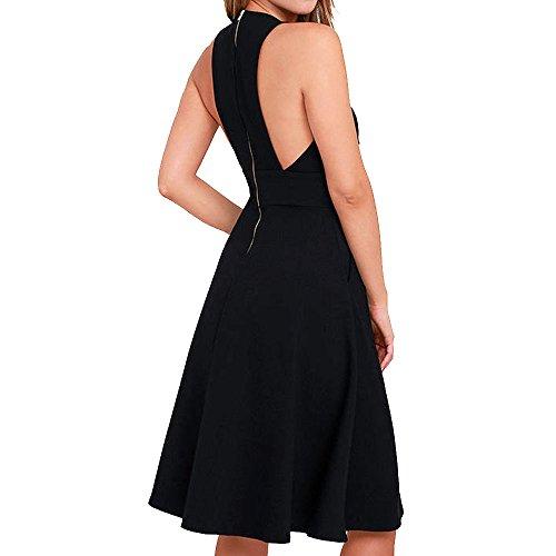 0eb275a23a7 Jual YOOHOG Summer Women s A-Line Sleeveless Deep V-Neck MIDI Dress ...