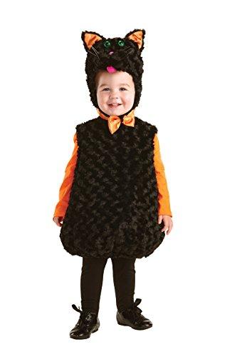 Underwraps Toddler's Black Cat Belly Babies Costume, Black, Large -