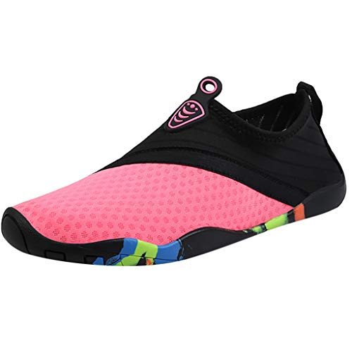 Water Sports Shoes,ONLYTOP Barefoot Quick-Dry Water Shoes Aqua Socks for Swim Beach Pool Surf Yoga for Women Men