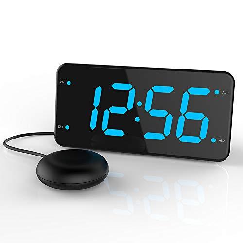 LIELONGREN Dual Alarm Digital Clock with Bed Shaker
