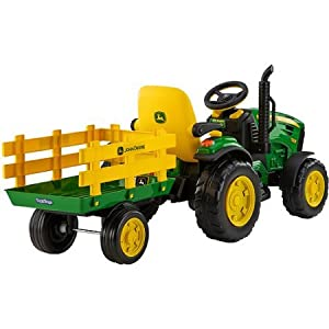 John Deere Ground Force 12-volt Tractor Ride-On - Includes Wagon