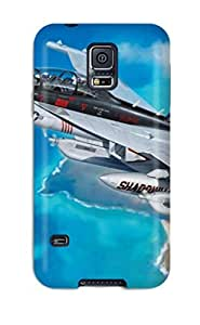 6190223K61645474 New Galaxy S5 Case Cover Casing(airplane Boeing Ea-18)
