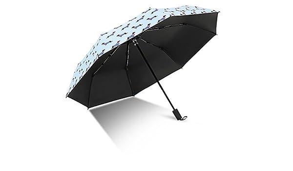 YFAN Creativa Plegable Paraguas Perro Rayas Lluvia De Moda De Doble Uso Paraguas De Vinilo Ms. Outdoor Protección UV Paraguas,Blue: Amazon.es: Deportes y ...