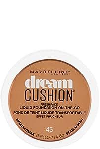 Maybelline New York Dream Cushion Fresh Face Liquid Foundation, Medium Beige, 0.51 Fluid Ounce