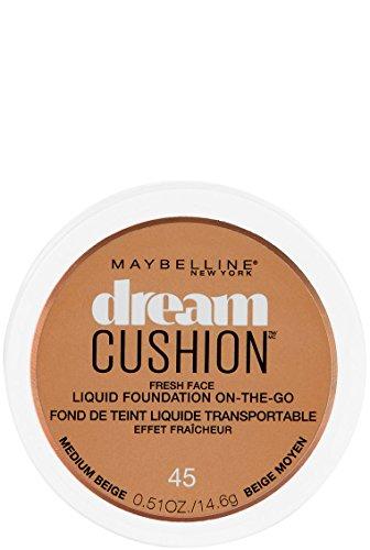 Maybelline New York Dream Cushion Fresh Face Liquid Foundation, Medium Beige, 0.51 oz.