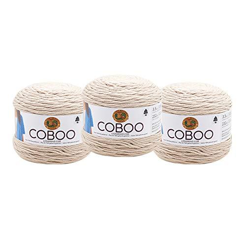 ((3 Pack) Lion Brand Yarn 835-123Q Coboo Yarn, Tan )