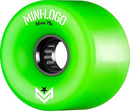 豆バングラデシュ顧問Miniロゴa.w.o.l. a-cutグリーンスケートボードホイール – 66 mm 78 a ( Set of 4 )