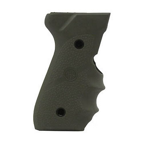 Hogue Beretta 92/96 Series Grip with Finger Grooves, OD Green