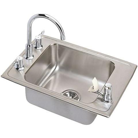 Elkay DRKADQ251760C Lustertone Classroom Sink Package - Primary Bowl Depth: 6