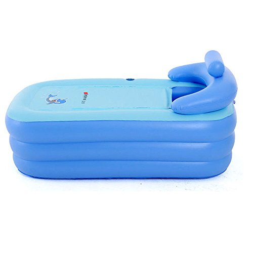 Adult SPA Inflatable Bath Tub,Tdogs PVC Portable Foldable Inflatable Bathtub (Blue)]()