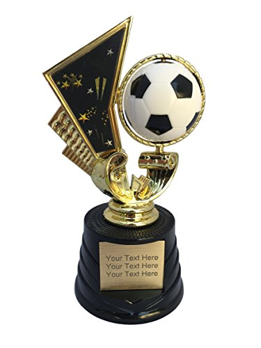 (Trophy Crunch - Customized Soccer Trophies - Soccer Spinner - Custom Plate Engraving)