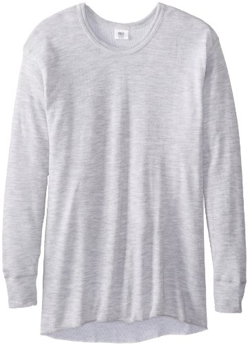 Rock Face Men's Big-Tall Mid-Weight Crew Thermal Shirt, Grey, 4X
