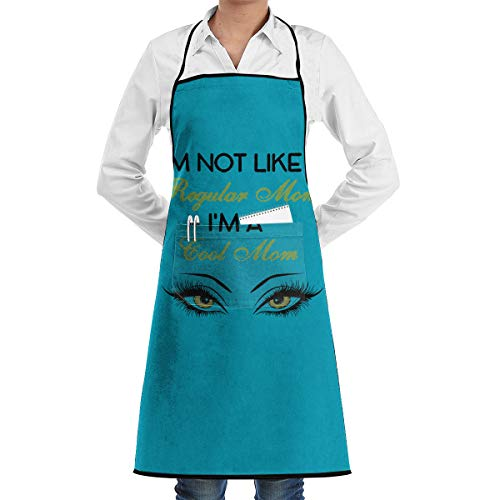 Eleanore Johnson Hemmed Apron with Pockets I'm Not Like A Regular Mom I'm A Cool Mom Feddiy Aprons for Women Men - Custom Cooking Waist Chef BBQ Waterproof Apron