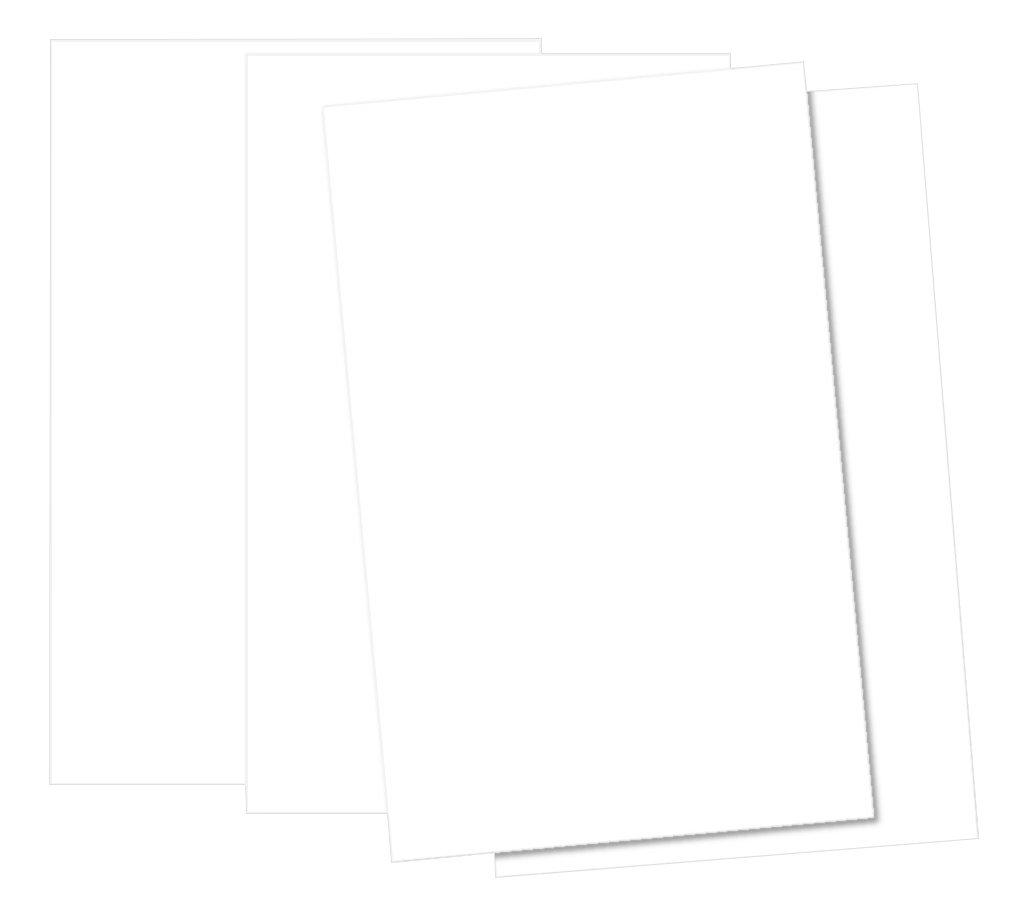 HCP Card Cartoncini formato A3, 250g/mq, colore: bianco, confezione da 50fogli. House of Card & Paper HCP179