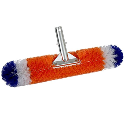 Blue Wave NA315 Brush Around 360-Degree Wall and Floor Pool Brush - Blue Stiff Brush