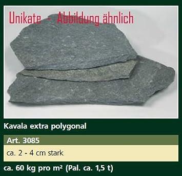 Ca Tonnen Kavala Extra Polygonal Steinplatten Ca Kgm² - Steinplatten 2 cm stark