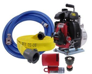 Koshin Firefighting Pump Kit with 100' Attack Hose and Floating Strainer