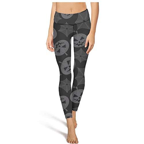 2018 Halloween Pumpkin Spider Black Yoga Pants Leggings Outfit -