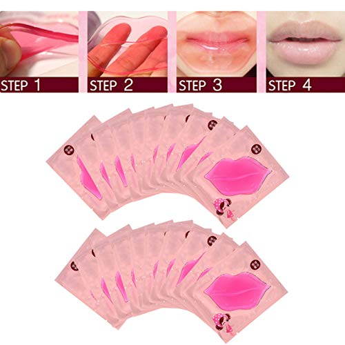 CCbeauty 20-Pack Pink Collagen Crystal Lip Mask Lip Plumper Mask Gel Care Mask Moisturer Essence Make Your Lip Attractive and Sexy (Plumping Lip Stain)