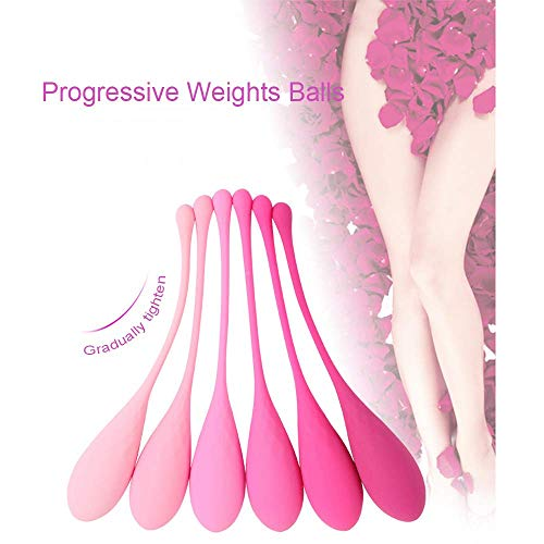 Kegel-Exercise-Weights-Ben-Wa-Balls-Doctor-Recommended-for-Bladder-Control-and-Pelvic-Floor-Exercises-Set-of-6-Premium-Silicone-Kegel-Balls-with-Training-Kit-for
