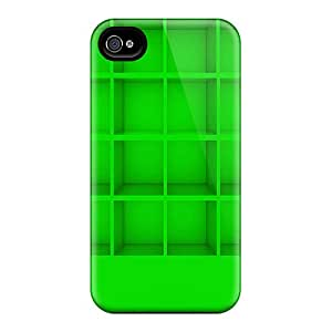Mym5396bUvH RogerKing Awesome Case Cover Compatible With Iphone 4/4s - Green Shelf