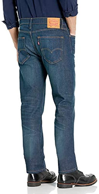 Levi's Męskie 514 Straight Fit Jeans, Burch Stretch, 34W / 34L: Odzież
