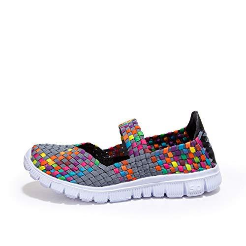Chanclas Mujer, YiYLinneo Calzado Deportivo Casual para Mujer Tejido De Moda Zapatillas Zapatos Planos Transpirables Zapatillas Chancletas: Amazon. es: Ropa ...