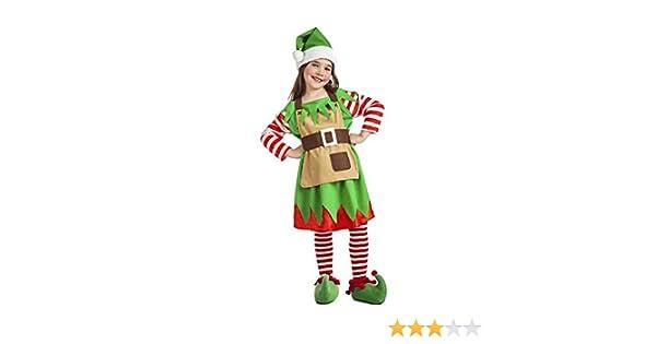 Disfraz de Elfa de Navidad para bebé: Amazon.es: Juguetes y juegos