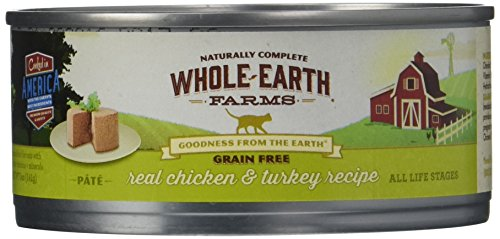 Merrick Whole Earth Farms Grain Free Wet Cat Food – Real Chicken & Turkey – 5 oz – 24 pk For Sale