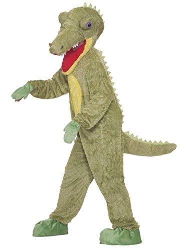 Forum Novelties Men's What A Croc Plush Crocodile Mascot Costume, Green, One Size - Mens Crocodile Costume
