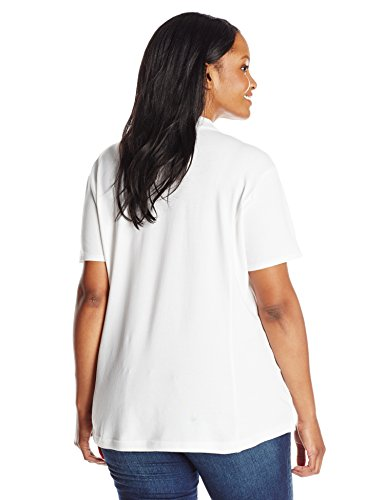 Riders by Lee Indigo Women's Plus-Size Morgan Short Sleeve Polo Shirt, Arctic White, 3X by Riders by Lee Indigo (Image #2)