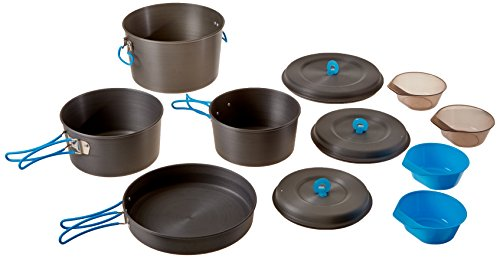 Stansport Family Hard-Anodized Aluminum Cook Set by Stansport