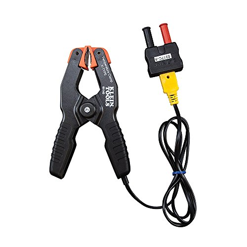 K-Type Thermometer, Pipe Temperature Clamp for HVAC, Measures -4 to +212 Degrees Fahrenheit Klein Tools 69140