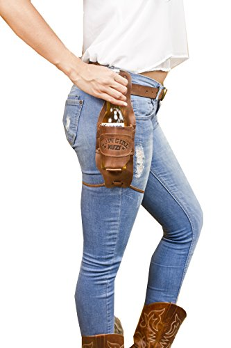 Hide & Drink Cowboy Buzy Beer Holster Handmade Bourbon Brown -